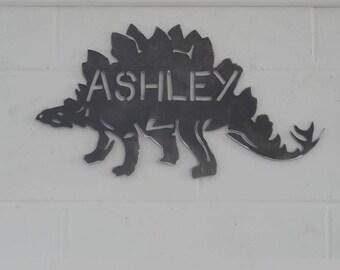 Stegosaurus PERSONALISED Dinosaur Wall Art