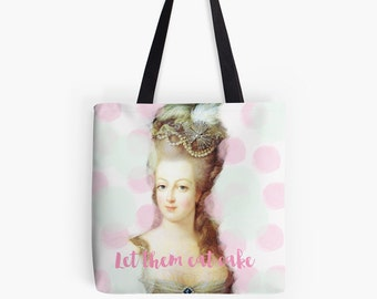 Marie Antoinette bag, French tote bag, pink bag, gift for her, Marie Antoinette gift