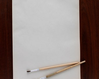 Old Vintage Paper. Writing Paper. Set of 19 letters for creativity Typewriter paper