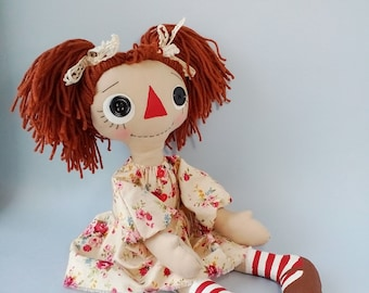 Primitive dolls Rag doll Raggedy Ann doll Prim doll Textile doll Cloth dolls handmade Ragdoll decor doll Rag dolls handmade Home decor