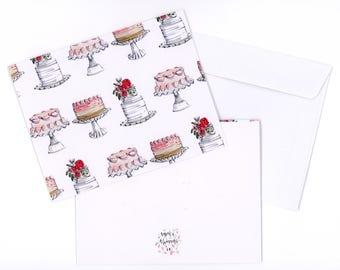 Birthday Cake Card, 4x5.5