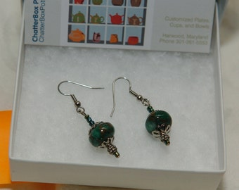 Dark Jade Earrings