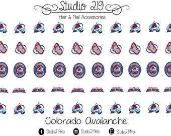 Colorado Avalanche Waterslide Nail Decals