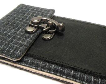 iPhone 6 / 7 / 7 Plus wallet  - gray vintage wool
