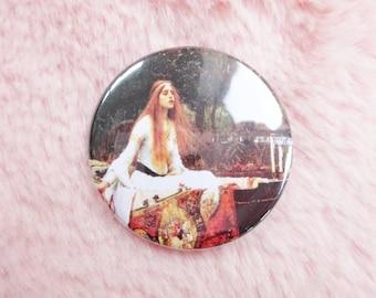 The Lady of Shalott John William Waterhouse Fine Art Classical Pin Badge