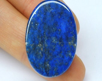 Lapis Lazuli Cabochon, Blue Oval, Double-Sided - 33.7 x 22.1 x 7.8 mm - 50.4 ct - 110613-19