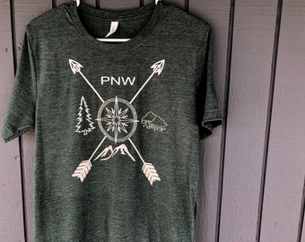 PNW Elements compass tee