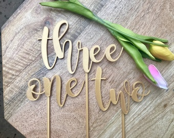 Standing Table Numbers 3D Printed; Wedding Table Number; Wedding Decor