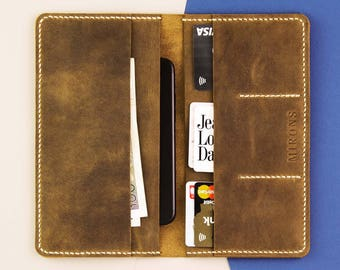 Personalized Bifold Leather Wallet, Leather wallet, leather mens wallet, leather purse, italian leather wallet, Distressed Leather Wallet