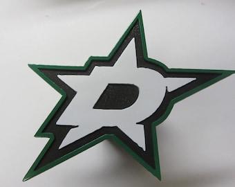 Dallas Stars Steel Trailer Hitch Cover