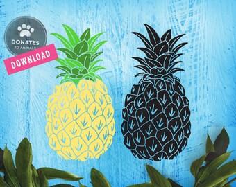 Pineapple SVG Bundle Summer SVG Pineapple Clipart Pineapple Cut File Pineapple Download Pineapple Clip Art Dxf File for Cricut Silhouette