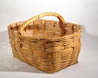 Big Antique Splint Gathering Farm Basket