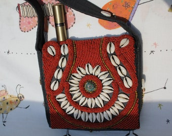 SALE! Coral -crossbodybag, manufactered, so good as new