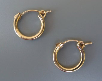 Gold Hoops, Gold Filled Hoop Earrings, 13mm Hoops,15mm Hoops,18mm Gold Hoops,22mm Hoops,Hoops For Earring Charms,For Interchangeable Charms