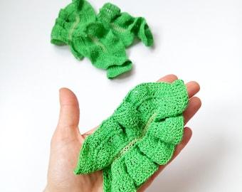 Crochet Lettuce Pretend Play Crochet vegetables Crochet food Amigurumi Food Veggies Play Kitchen food Tactile toy Educational toy