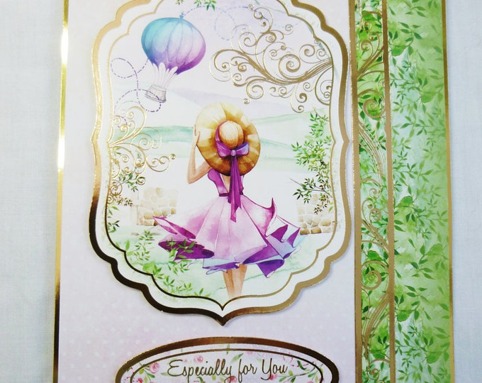Hot Air Balloon, Birthday Card, Greeting Card, Special Day, Windy Day, Female, Any Age