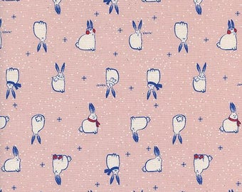 Cotton + Steel Snow Fuzzies Pink 100% Cotton Fabric
