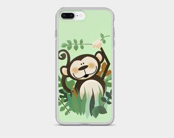Cute Jungle Monkey iPhone 7/7 Plus Snap Phone Case, Kids iPhone Case