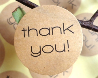 Thank You Sticker -Thank You Stickers Roll - ROUND Thank You Sticker Seals - for Business Handmade Baked Scrapbook Customizable