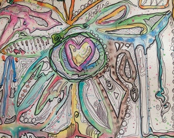 HEALING, Energy Art, meditation, divination, abstract, watercolor, pen and ink, zen, reiki, oracle, psychic, spiritual, transformation