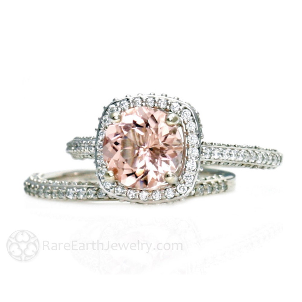 zoom - Morganite Wedding Ring