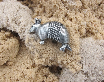Armadillo Lapel Pin - CC245- Armadillo, Wildlife, Zoo, Animals, Armored Animals