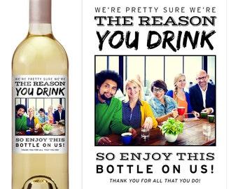 Boss Gift - Boss Appreciation Gift - Boss Christmas Gift - Custom Wine Label - Wine Label for Boss - Photo Wine Label - Funny Wine Label