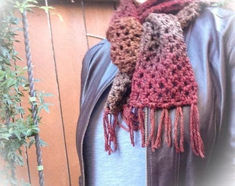 Lydia Scarf in Autumn Red
