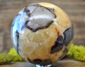 Large Septarian Dragon Stone Crystal Sphere - 1056.12
