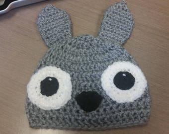 Crochet Totoro Hat - Cartoon Costume Hat - Gray crochet hat of Hayao Miyazaki character