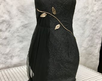 LBD with gold leaves