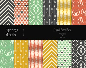 Dance with the Devil - digital patterned paper - Instant Download -  digital scrapbooking - Commercial use