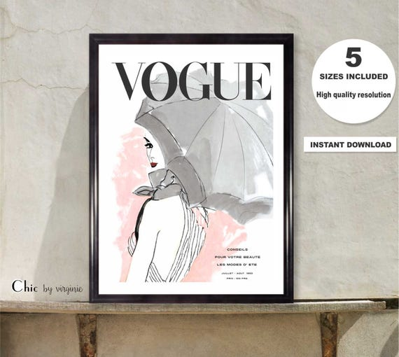 Vogue Poster Vogue Print Printable Art Wall Art Gift For