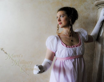 Custom Two Color Round Gown Regency Jane Austen Ball Empire formal Dress