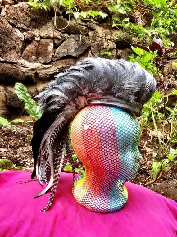 "Customizable Feather Mohawk / Headdress - ""Roxy"""