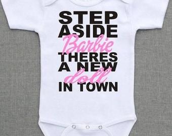 Custom made hand printed baby vest