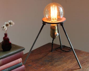 Science gift Industrial lamp decor scientist desk light chemistry upcycled salvaged biology cool vintage laboratory science bunsen stand