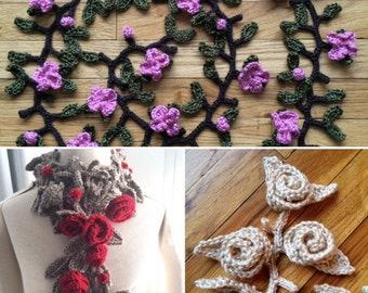 Garland Scarves - Crochet PATTERN - Great for the Beginner