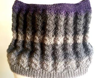 knitting pattern  easy cowl