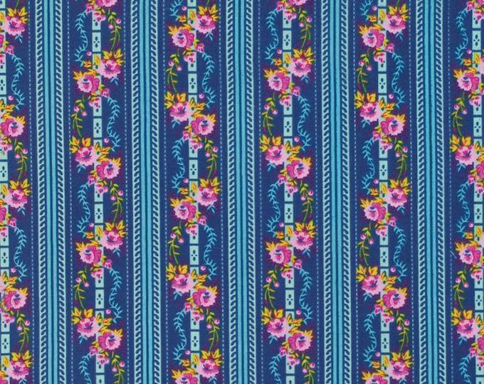 SALE 1 yard - Happy Land by Jennifer Paganelli - Martha JP067 Midnight blue
