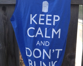 Keep Calm and Don't Blink T-Shirt Bag Recycled Clothing