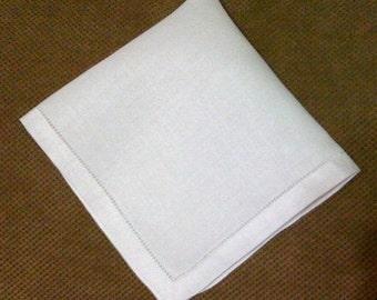 Ladies 100% Linen hanky, bridesmaid, wedding gift, monogram available
