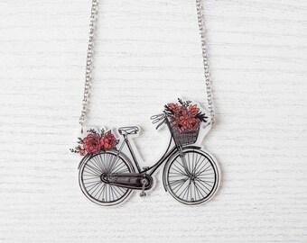 Collana Bicicletta in fiore