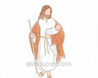 Jesus + Baby print