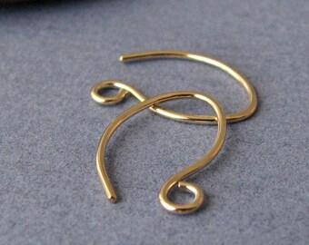 Handmade Ear Wires, 14k Gold Filled Teenie Weenie Elfins, 3 pairs