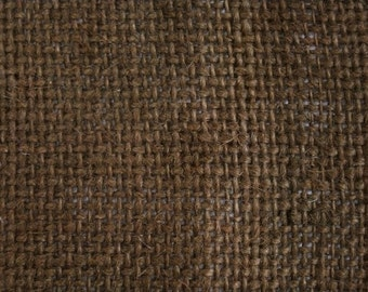 "Brown Burlap Fabric 60"" Wide Per Yard"