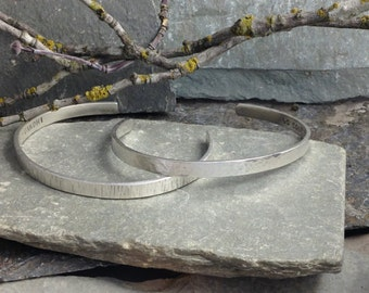 Sterling silver mans handcrafted cuff bracelet