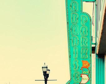 Nashville sign, country music decor, Nashville art, city photography, Nashville print, country music art, green wall art, Nashville wall art