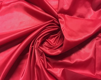 """Polyester Lining with Twill Weave, Red, 45"""" wide, Price is per Yard"""