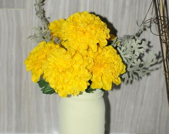 mason jars flowers vases, mason jar centerpieces, wedding decor, home decor, silk floral arrangements and decorations, family, love